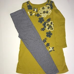 Tea Collection dress and Gymboree leggings